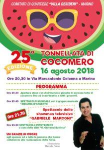 25° Edizione - Tonnellata di cocomero a Marino 16 agosto 2018 @ Marino