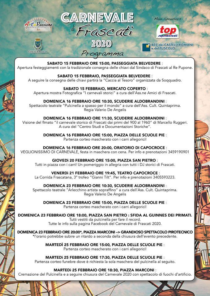 Carnevale Frascati 2020