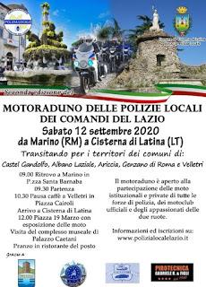 MOTORADUNO DELLE POLIZIE LOCALI DEI COMANDI DEL LAZIO @ MARINO
