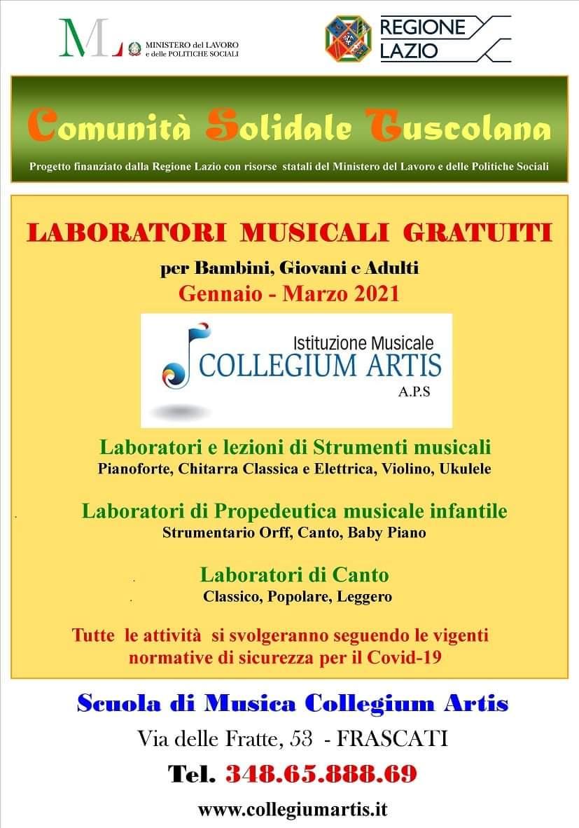 Laboratori Musicali Gratuiti per bambini, giovani ed adulti @ Scuola di Musica Collegium Artis